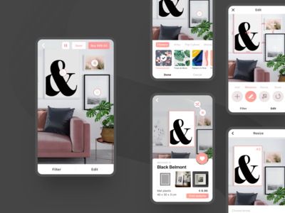 Design for AR app for furniture placement
