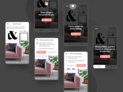 UX & UI design for furniture placement app