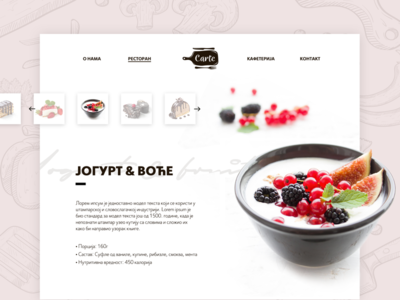Carte - Restaurant website