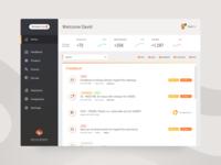 UI for Feedback center dashboard