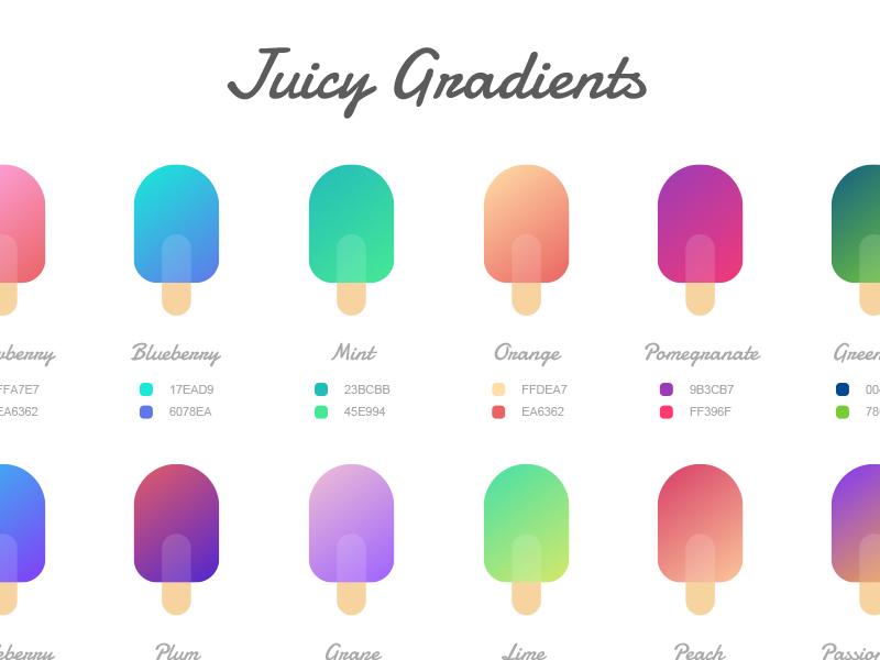 Juicy Gradients ( Sketch Freebie ) freebie prototype product design app ios gradients sketch