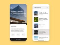 Event App Exploration thumbnails search event architecture daily app minimal clean ux ui
