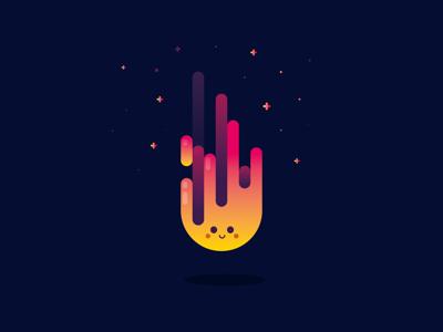 Fire gradient flat identity illustration illustrator vector fire