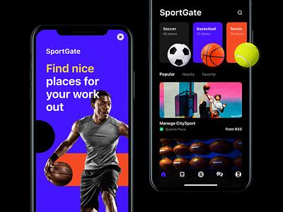 SportGate Mobile App ball list onboarding filter design ux places sport mobile app uiux ui