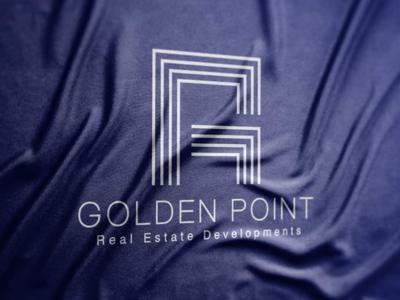 GOLDEN POINT | LOGO DESIGN design creative blue art identity visual brand branding logo real-estate