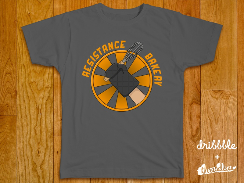 The resistance bakery t shirt design by billy sutherland for T shirt design upload picture