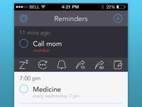 'Due' app redesign