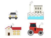 Co2 emission category icons