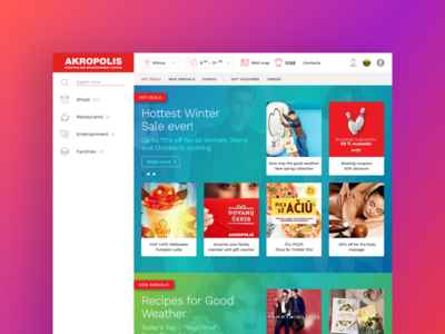 Akropolis Shopping Mall Website ui ux design website mall shopping akropolis