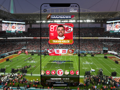 Super Bowl LIV Field Filters sports animation motion graphic chiefs 49ers 5g verizon football augmented reality nfl super bowl