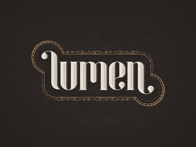 Lumen vector mechanical typogaphy steampunk lumen art deco art noveau puzzle game branding logo game art game logo apple arcade