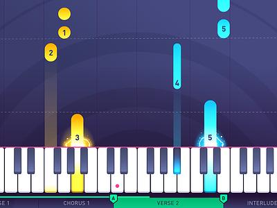 iPad Piano App music game piano flat design iphone app music app game design animation ui  ux design learning app ipad app