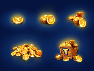 Toybox Tokens 3d illustration store currency app monetization coin packs tokens shop coins game ui game art