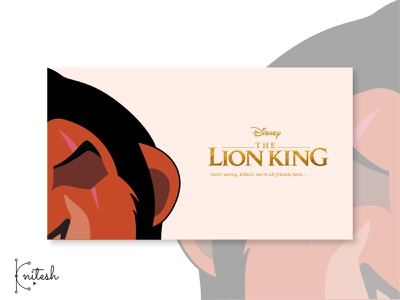 lion king - Scar Poster movie poster minimal