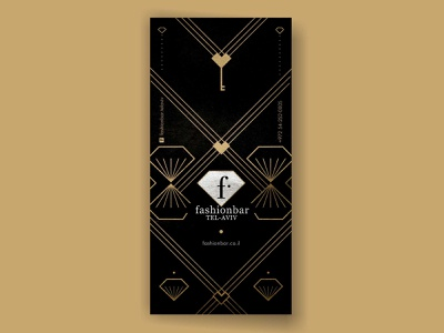 Fashionbar nightclub telaviv graphic design vector black black and white banner love key heart club bar fashion flyer branding identity