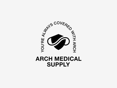 Arch Medical Supply manufacture architecture mask medical logo mark identity logo branding