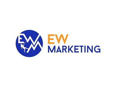 Ewm logo mountaineering alpinism equipment marketing branding vector design color logo