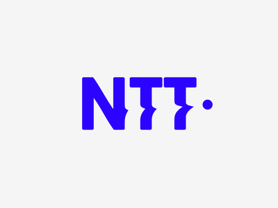 NTT logo ball dynamic ping pong mark tennis graphic design identity branding vector logo
