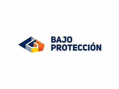 Bajo proteccion logo security service protection color identity vector branding logo