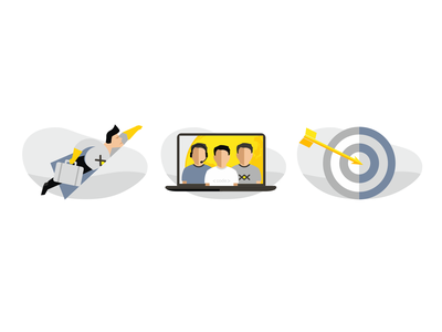 Icons app mark caracter color vector software team building developer illustration icon
