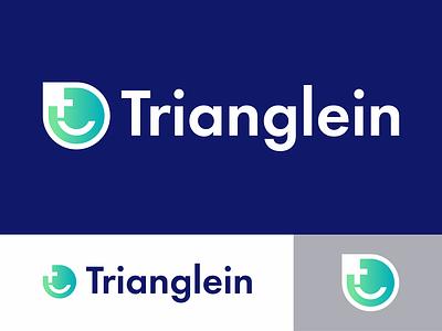 Trianglein logo t logo smiley face smile face app social social network social app design logo mark icon identity vector color branding