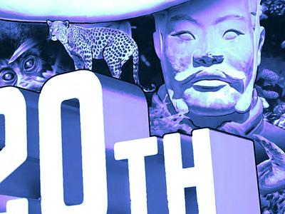20th Anniversary for Film Studio poster illustration hollywood film duotone