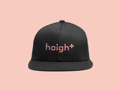 But Haight is Love love baby pink cap hat identity branding