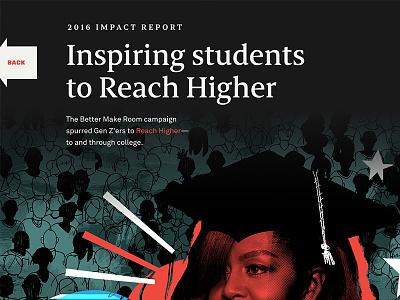 Impact Site impact illustration collage serif web