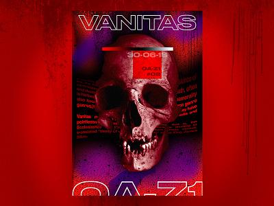 Vanitas ☠️ | 0A-Z1 Studio second dead skull 0a-z1 studio colors art design graphic poster vanitas project