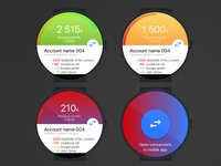 Simple smart watch app design for a fintech startup (2016)
