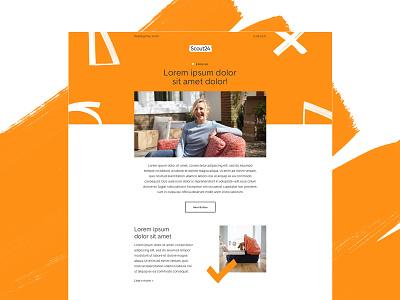 Scout24 Internal newsletter ui design branding