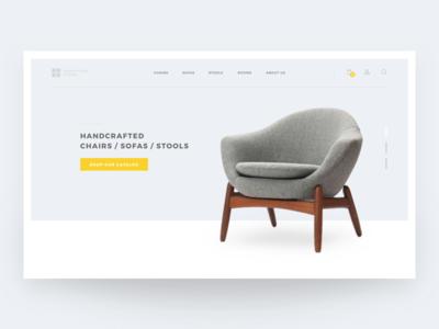 Furniture Web Design Concept