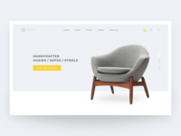 Furniture Web Design Concept