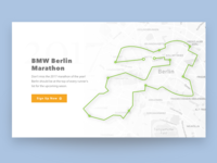 Marathon Finder Web Design Concept