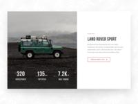 Land Rover Web Page Concept pt 2