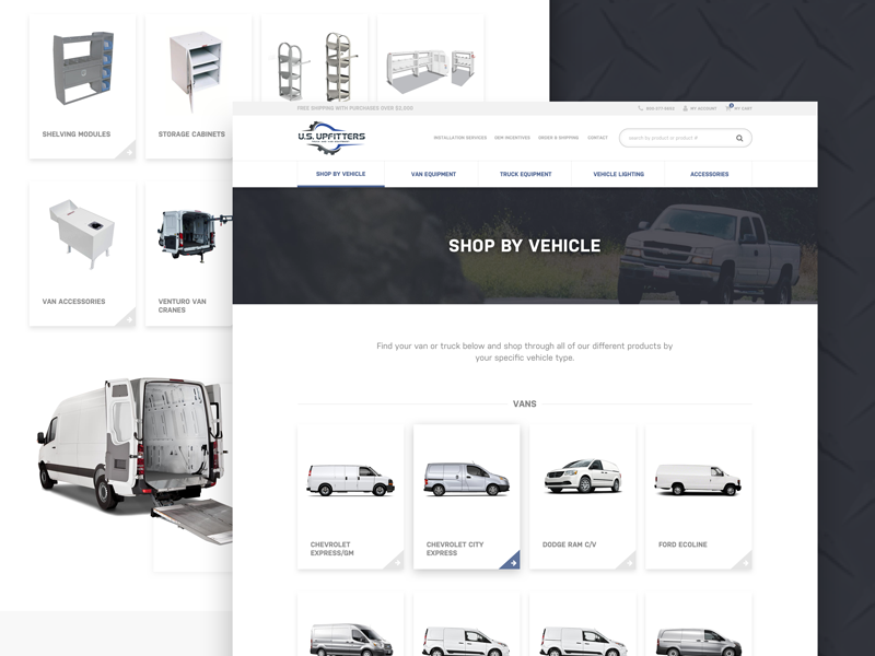 61f9775b14 e-commerce web design for van truck equipment pt. 2 by Sean Packard ...