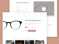 Glasses Product Page UI Design