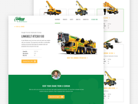 Construction Equipment Product Pages