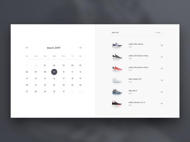 Shoe Release Calendar.Shoe Release Calendar By Sean Packard On Dribbble