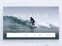 Surf Website Parallax