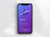 Mobile Shoe App Scrolling Animations