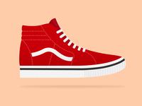 Vans Sk8 Hi Sneaker Illustration