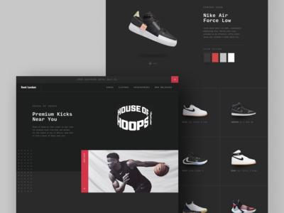 Foot Locker's House of Hoops Website pt. 2