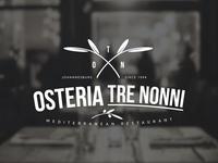 Osteria Tre Nonni Logo Design