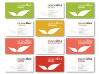 Crunchy Apple Design Business Cards