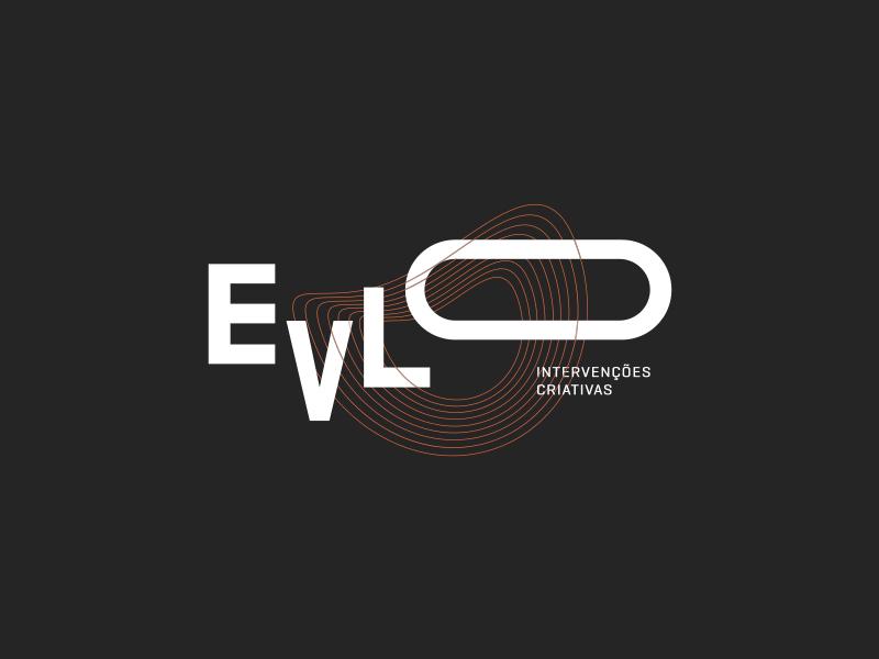 Evlo logotype identity logo branding