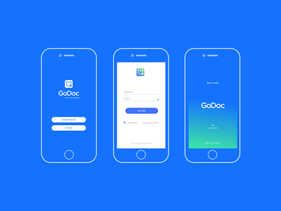 GoDoc APP ux ui logo icon branding app concept app