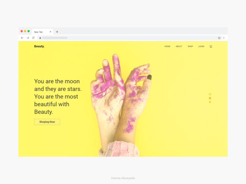 Beauty Website app design ux web logo adobe adobe xd interface creative ui design