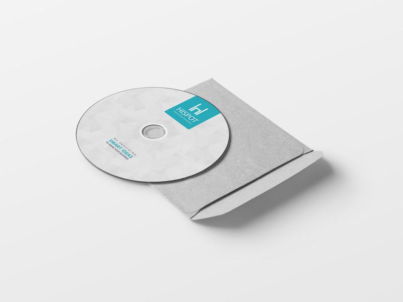 CD Design For Hispot photoshop blue graphic design graphicdesign graphics graphic clean branding design creative cd artwork cd cover cd packaging cd design