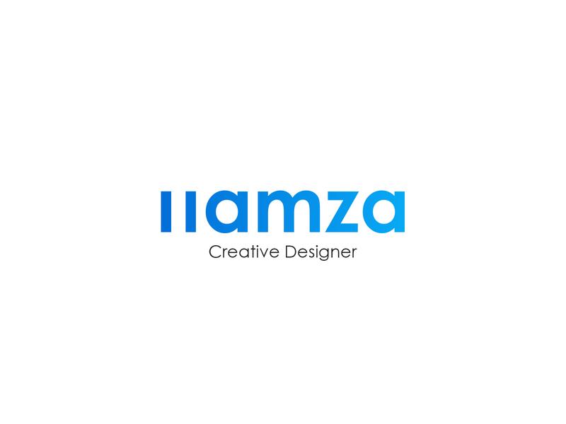 Hamza Logo sky gradient graphic design graphic designs designer visual identity brand visual design blue creative design icon typography vector branding logo